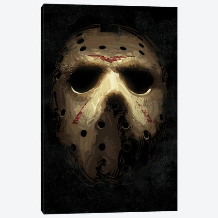 Jason Voorhees Mask Canvas Print #AKM330} by Nikita Abakumov Canvas Art