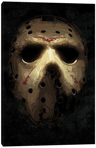 Jason Voorhees Mask Canvas Art Print