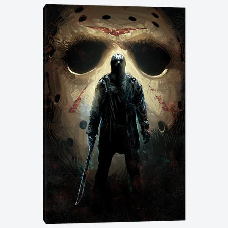 Jason Voorhees 13th Canvas Print #AKM331} by Nikita Abakumov Canvas Art