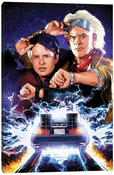 Marty And Doc Canvas Art Print
