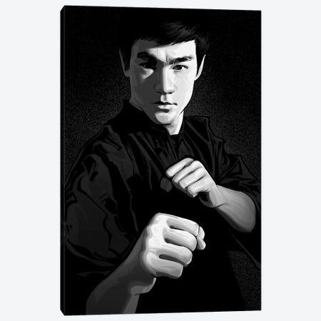 Bruce Lee Canvas Print #AKM346} by Nikita Abakumov Canvas Artwork