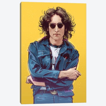 John Lennon Canvas Print #AKM34} by Nikita Abakumov Canvas Print