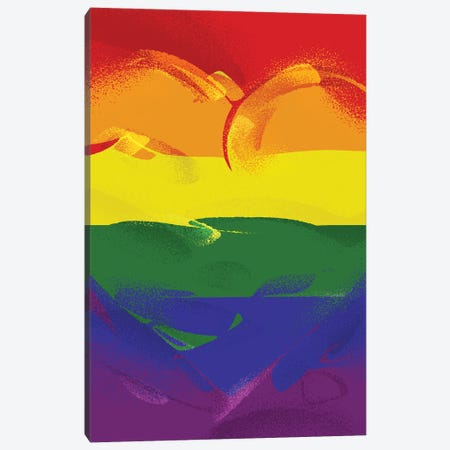Pride Heart Canvas Print #AKM363} by Nikita Abakumov Canvas Art Print