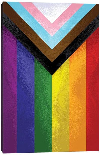 Modern Pride Flag Canvas Art Print