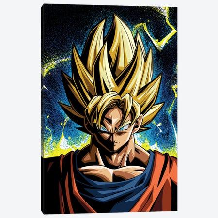 Dragon Ball Goku Canvas Print #AKM382} by Nikita Abakumov Canvas Print