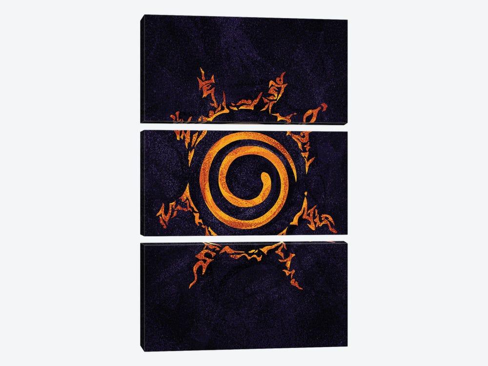 Naruto Sealing by Nikita Abakumov 3-piece Canvas Wall Art