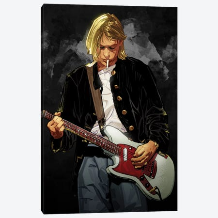 Kurt Cobain Canvas Print #AKM39} by Nikita Abakumov Canvas Artwork