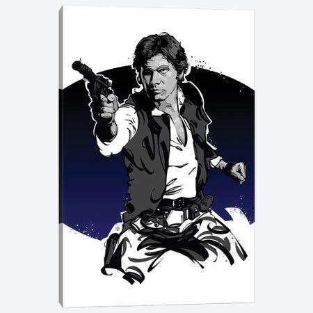 Han Solo Canvas Print #AKM410} by Nikita Abakumov Canvas Art Print