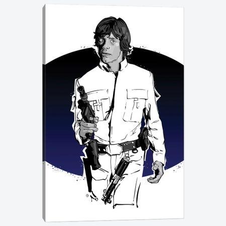 Luke Skywalker Canvas Print #AKM412} by Nikita Abakumov Canvas Art Print