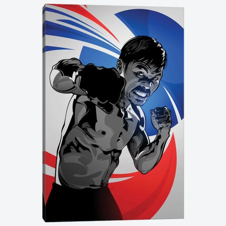 Manny Pacquiao Canvas Print #AKM41} by Nikita Abakumov Art Print