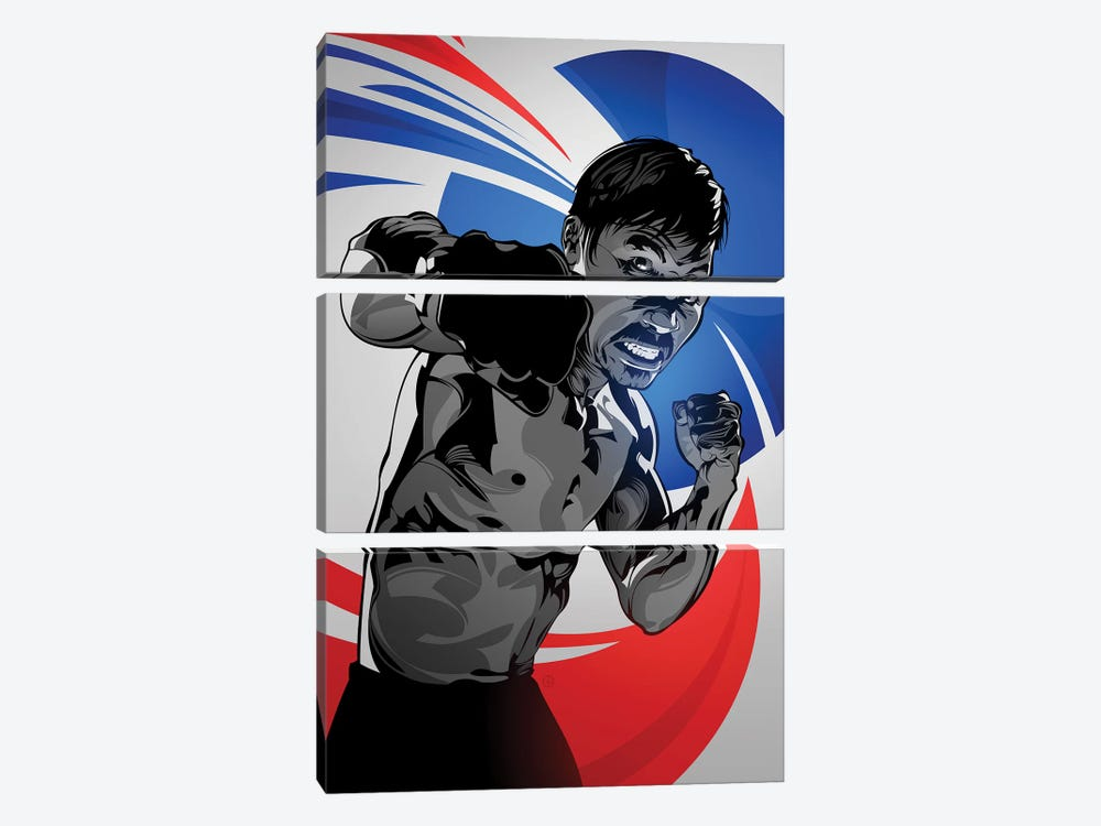 Manny Pacquiao by Nikita Abakumov 3-piece Canvas Print