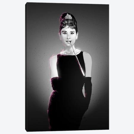Audrey Hepburn Canvas Print #AKM4} by Nikita Abakumov Art Print
