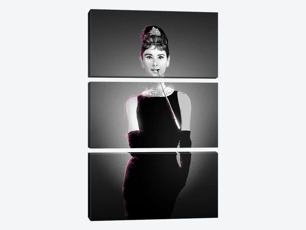 Audrey Hepburn by Nikita Abakumov 3-piece Canvas Print