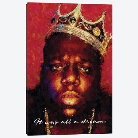 Biggie 3-Piece Canvas #AKM6} by Nikita Abakumov Canvas Print