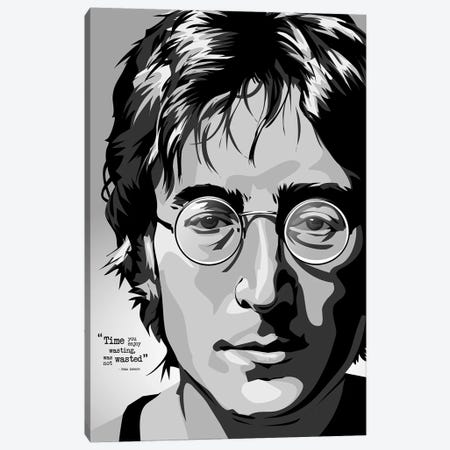 OMG Lennon Canvas Print #AKM70} by Nikita Abakumov Canvas Art