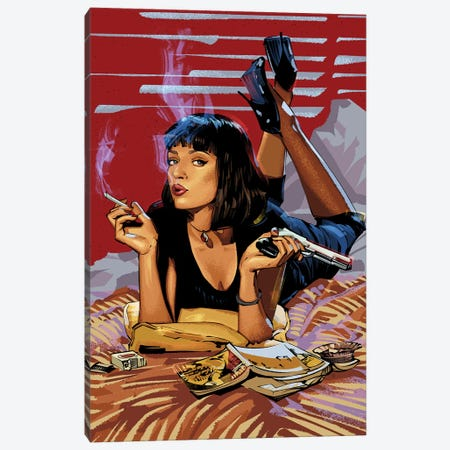 Pulp Fiction Canvas Print #AKM72} by Nikita Abakumov Canvas Art