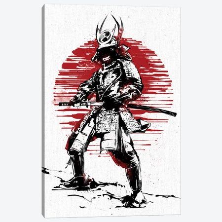 Red Sun Samurai Canvas Print #AKM73} by Nikita Abakumov Canvas Artwork