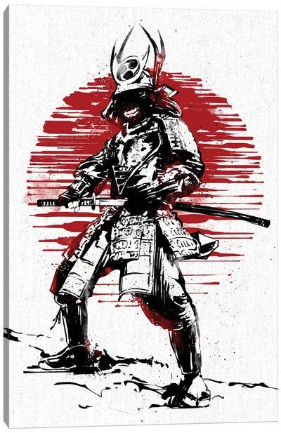 Red Sun Samurai Canvas Art Print