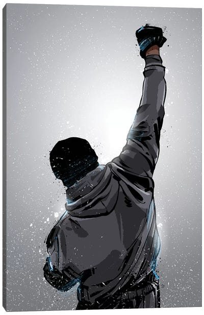 Rocky Win Canvas Art Print