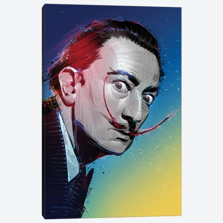 Salvador Dali Canvas Print #AKM77} by Nikita Abakumov Canvas Art Print