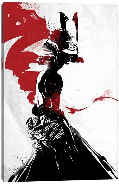 Samurai Girl Canvas Art Print