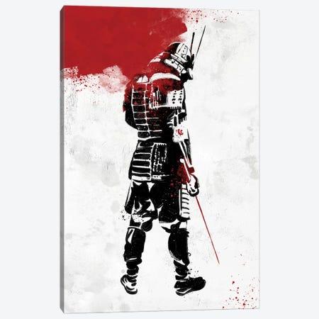 Samurai Warrior Canvas Print #AKM79} by Nikita Abakumov Canvas Wall Art