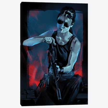Sarah Connor Canvas Print #AKM80} by Nikita Abakumov Canvas Art Print