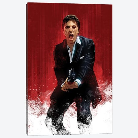 Scarface Canvas Print #AKM81} by Nikita Abakumov Canvas Print