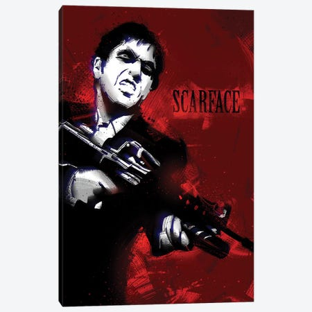Scarface I Canvas Print #AKM82} by Nikita Abakumov Canvas Art Print