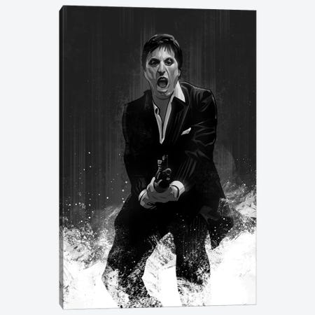 Scarface In Black And White Canvas Print #AKM83} by Nikita Abakumov Canvas Print