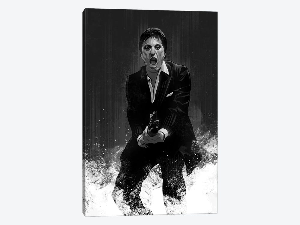 Scarface In Black And White by Nikita Abakumov 1-piece Canvas Art Print