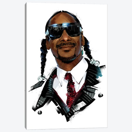 Snoop Dogg Canvas Print #AKM85} by Nikita Abakumov Canvas Art