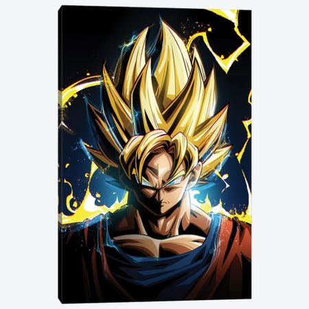 Super Saiyan Goku Canvas Print #AKM86} by Nikita Abakumov Canvas Art