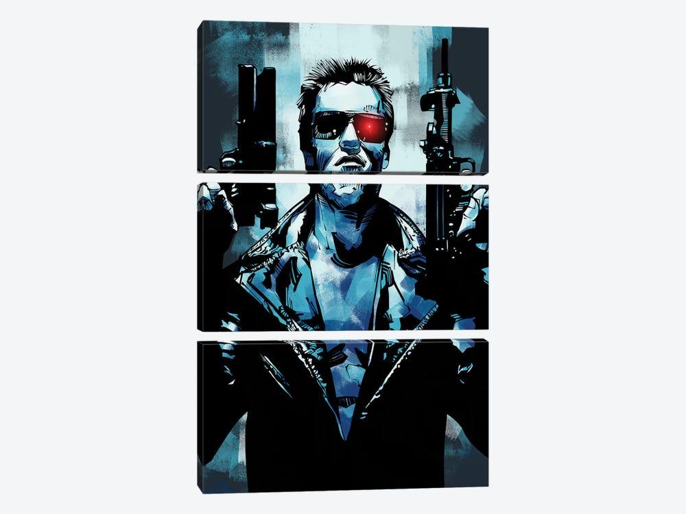 Terminator 3 by Nikita Abakumov 3-piece Canvas Art
