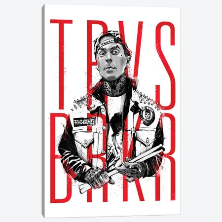 Travis Barker Canvas Print #AKM91} by Nikita Abakumov Canvas Artwork