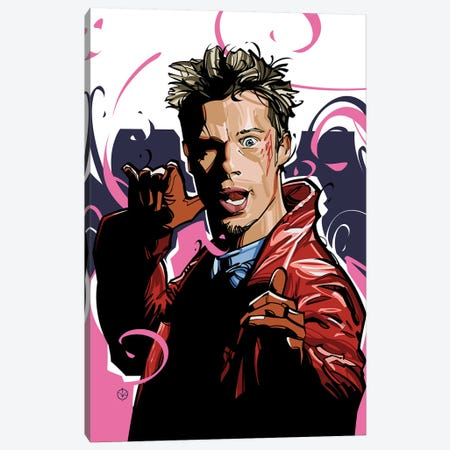 Tyler Durden Canvas Print #AKM92} by Nikita Abakumov Canvas Art