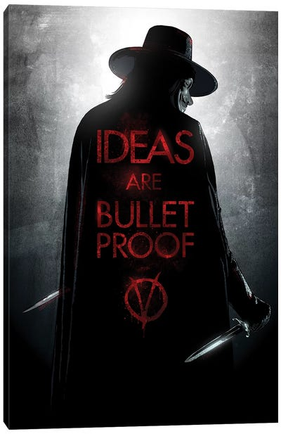V For Vendetta Canvas Art Print