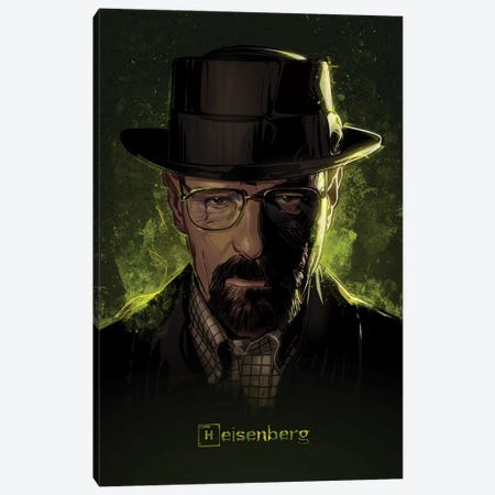 Breaking Bad Heisenberg Canvas Print #AKM9} by Nikita Abakumov Canvas Art