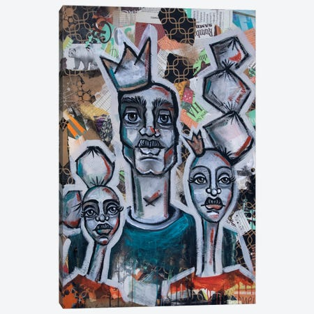 King Of His Castle Canvas Print #AKR100} by Akaimi the Artist Canvas Wall Art