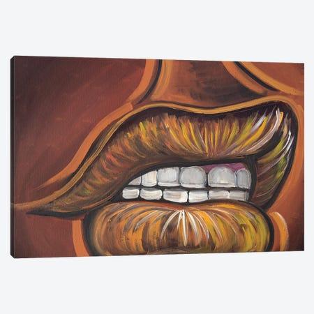 Lip Service Canvas Print #AKR103} by Akaimi the Artist Canvas Artwork