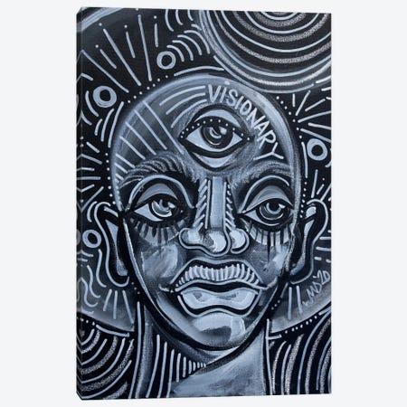 Visionary Canvas Print #AKR115} by Akaimi the Artist Canvas Wall Art