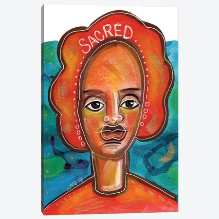 Sacred Canvas Print #AKR73} by Akaimi the Artist Canvas Print