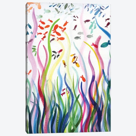 Fishes Canvas Print #AKS106} by Andrea Kosar Canvas Artwork