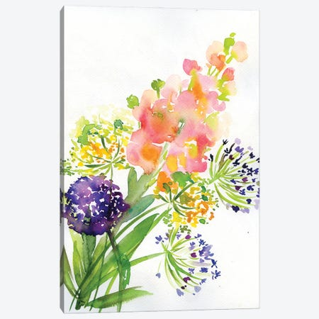 Garden Canvas Print #AKS108} by Andrea Kosar Art Print
