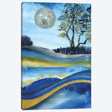 Full Moon Canvas Print #AKS110} by Andrea Kosar Canvas Wall Art