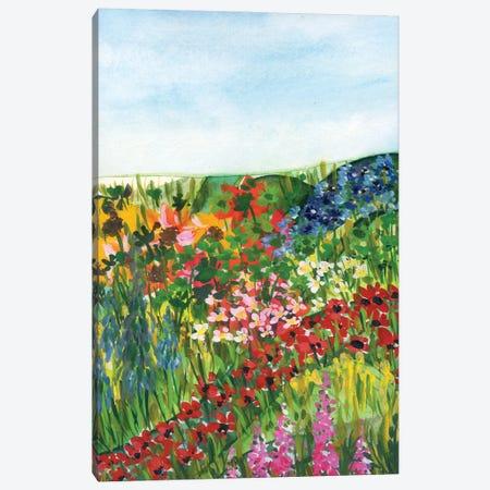 Flowery Meadow Canvas Print #AKS111} by Andrea Kosar Canvas Wall Art