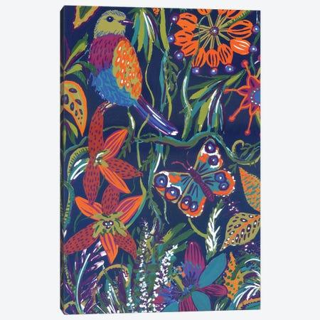 Jungle By Night: Gouache Pattern Canvas Print #AKS119} by Andrea Kosar Canvas Artwork