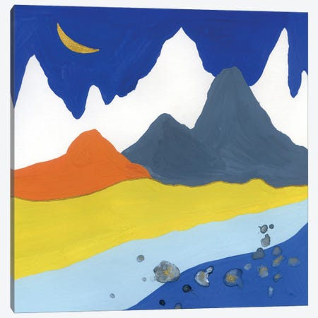 Landscape: Night In The Mountains Canvas Print #AKS125} by Andrea Kosar Canvas Artwork