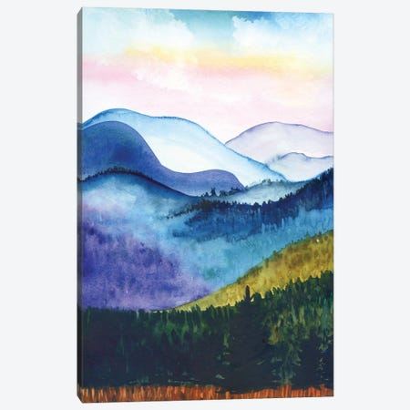 Mountains: Abstract Landscape Canvas Print #AKS135} by Andrea Kosar Art Print