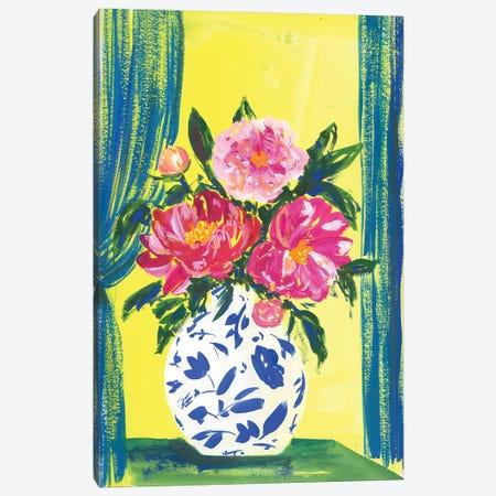 Peonies In China Vase: Stillafe Canvas Print #AKS145} by Andrea Kosar Canvas Art